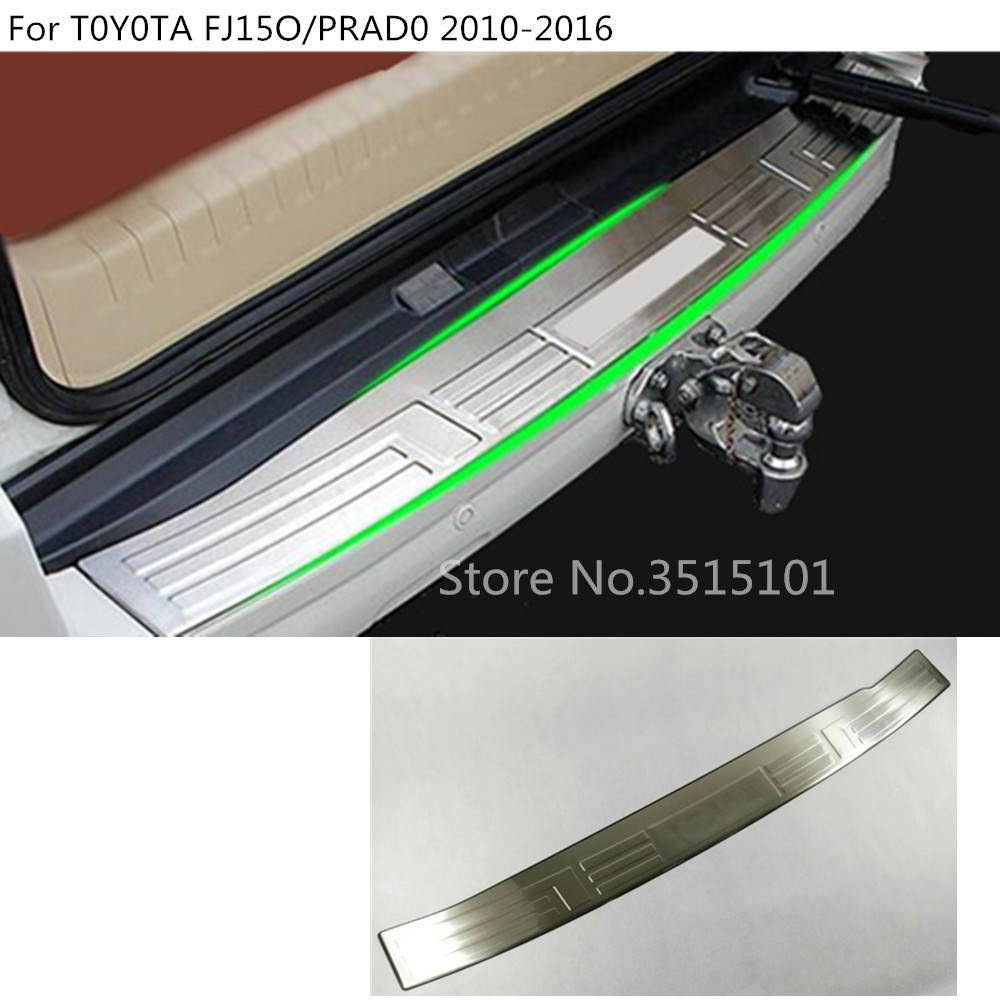 car external rear bumper Protect trunk trim cover plate pedal 1pcs For Toyota FJ150 / Prado 2010 2011 2012 2013 2014 2015 2016