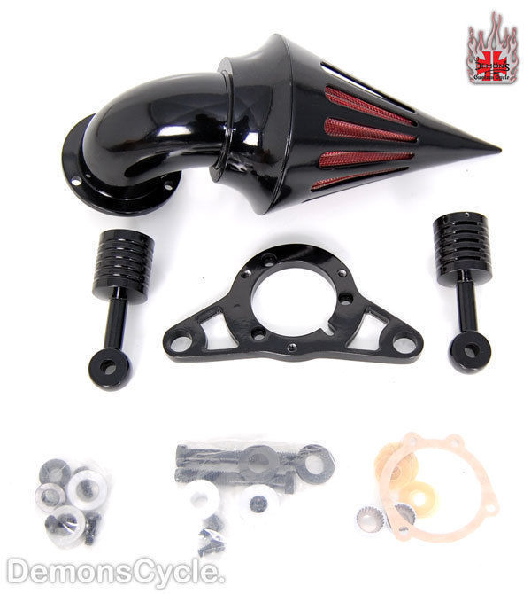 Motorcycle Black Spike Air Cleaner Kits Intake Filter For Harley Davidson Touring 2008+ Moto