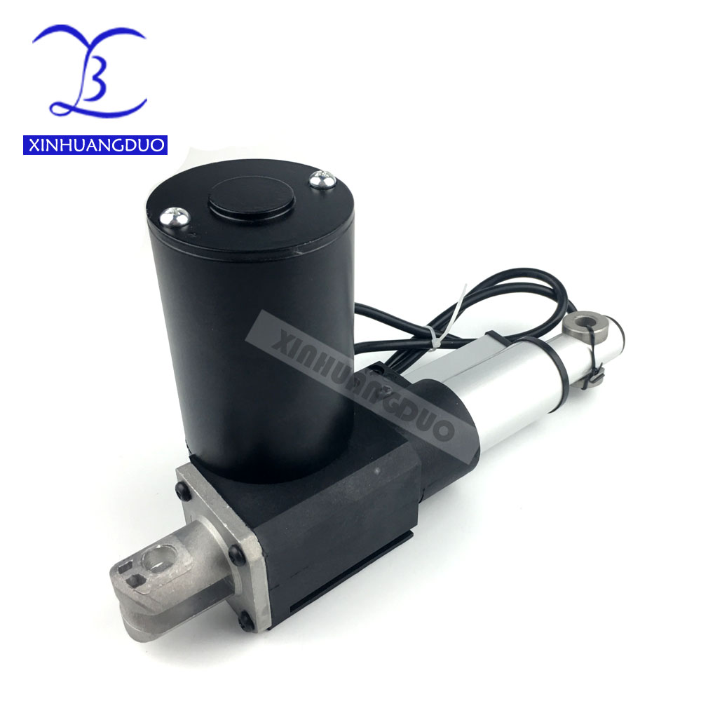 XINHUANGDUO 4 inch/100mm stroke Electric linear actuator dc motor, DC 24V, 5/10/25mm/s, Heavy Duty Pusher 500/300/100Kg