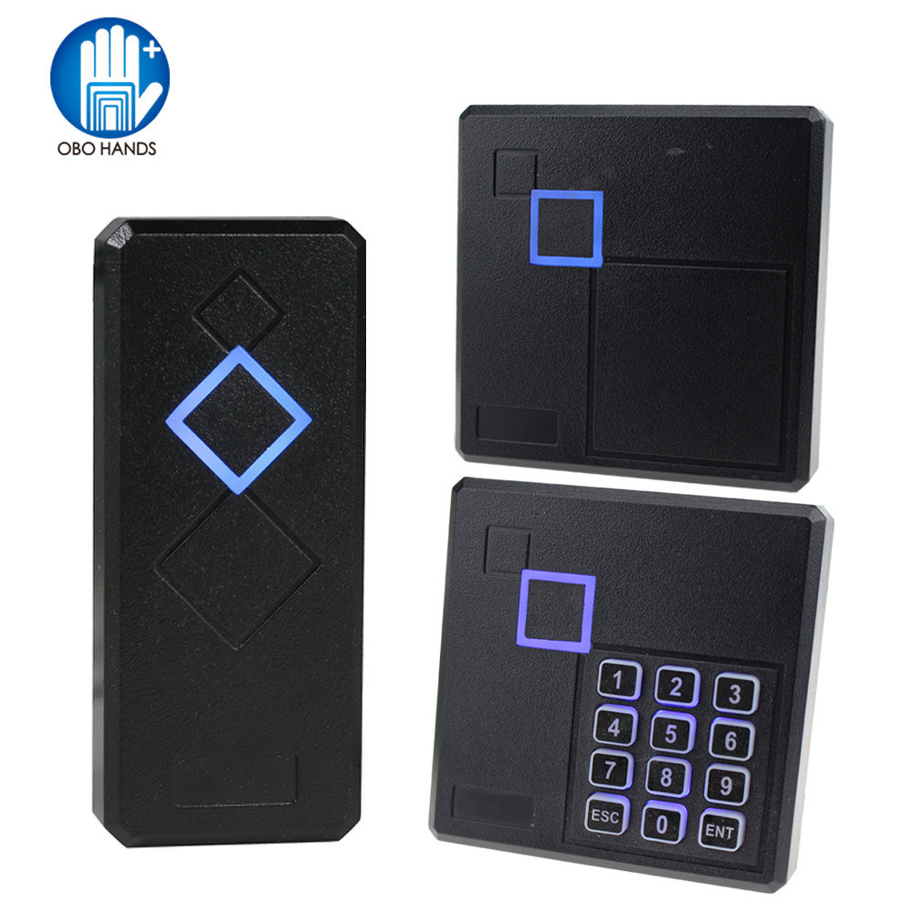 IP65 Waterproof RFID Reader Access Control Card Reader 125KHz/13.56MHz Smart Card Keypad Lock With LED For Door Security System