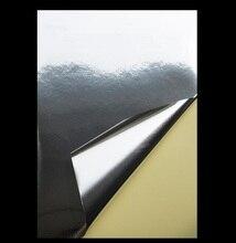 50 hojas de papel fotográfico brillante/mate de plata de oro A4 autoadhesiva de papel de aluminio de la etiqueta engomada de papel de impresión papel de copia de papel de láser impresora