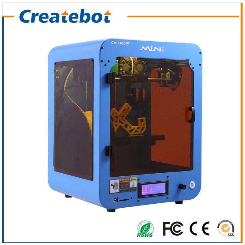 Precio excepcional azul fdm extrusora mini 3d impresora createbot 3d modelado má