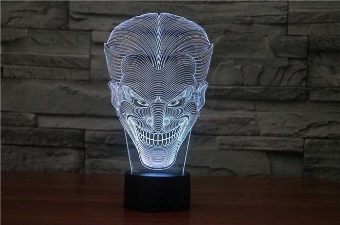 Luminarias светодиодные настольные Джокер Бэтмен Темный DC 3D акрил LED 7 цветов ночник сенсорный настольные лампы