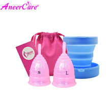 Feminine Hygiene Product Menstrual Cups Of Medical Silicone Copa Menstrual Period Cup Diva Cup Menstrual Cup 1Piece women reusable menstrual cup soft medical silicone lady discharge valve menstrual cups leak safety month period cup vagina care