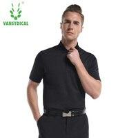 Vansydical Topkwaliteit Golf Shirt Mannen Sportwear Poloshirt Tennis Kleding Sport Badminton T-shirt Ademend Mannelijke Kleren