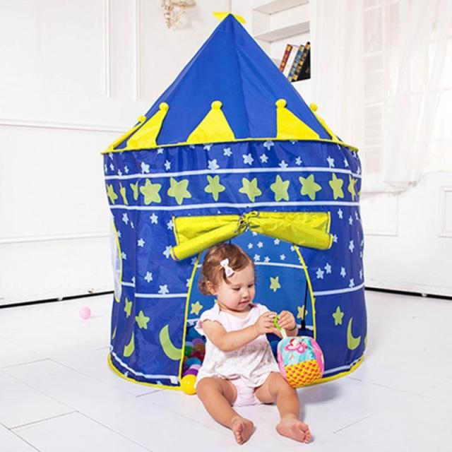 75254b31f 2017 Play Tent Portable Foldable Tipi Prince Folding Tent Children Boy  Castle Cubby Play House Kids Gifts Outdoor Toy Tents