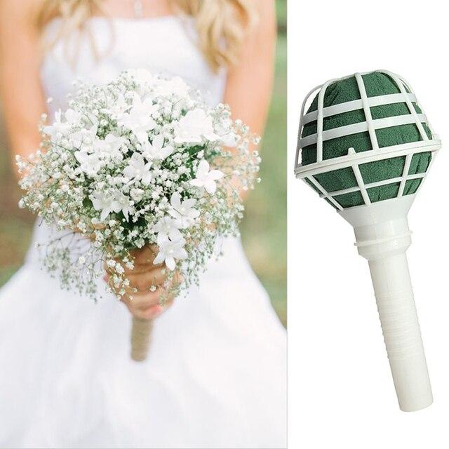 Straight Stem Foam Bouquet Holders Handle Bridal Fl Wedding Flower Diy Decoration