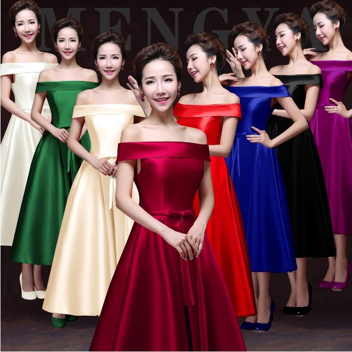 Popular Black Red Bridesmaid Dresses-Buy Cheap Black Red ...