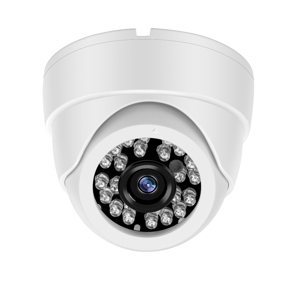 Yiispo plástico mini ir dome câmera 24 pces led câmera de segurança de vídeo indoor cctv 700tvl cmos para lente fixa ir corte visão noturna