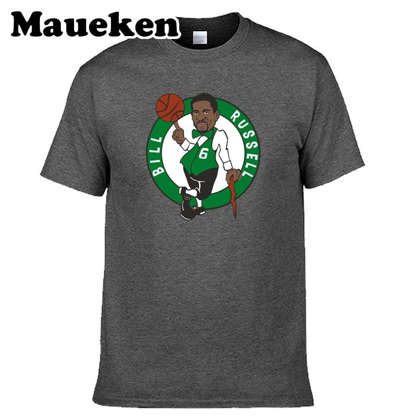 887c14e581e Men Boston Legendes 6 Bill Russell 11 Rings Champions T-shirt Clothes T  Shirt Men's