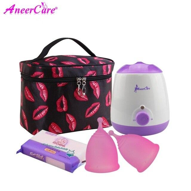 Copa Menstrual de Aneercare Copa médica de silicona menstrual para esterilizador de menstruación