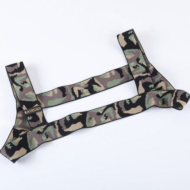 Sexy Harness Body Chest Lingerie Men Elastic Strap Bondage Costume Hombre Sexy Mens Camouflage Performance Clubwear Or Arm Band