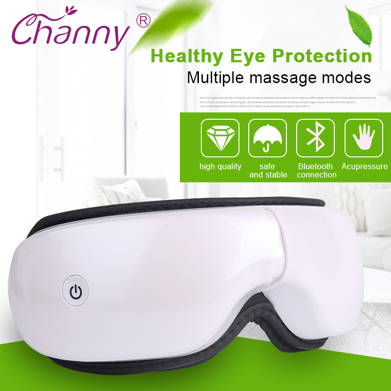 Electric Eye Massager Air Pressure Eyes Massager Instrument Wireless Music Vibration Magnetic Heating Therapy Massage Eye Care