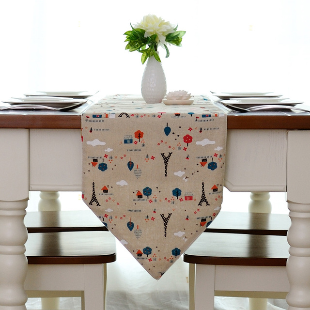 Brief table runner dining table cloth dining table mat dining table flag customize measurement