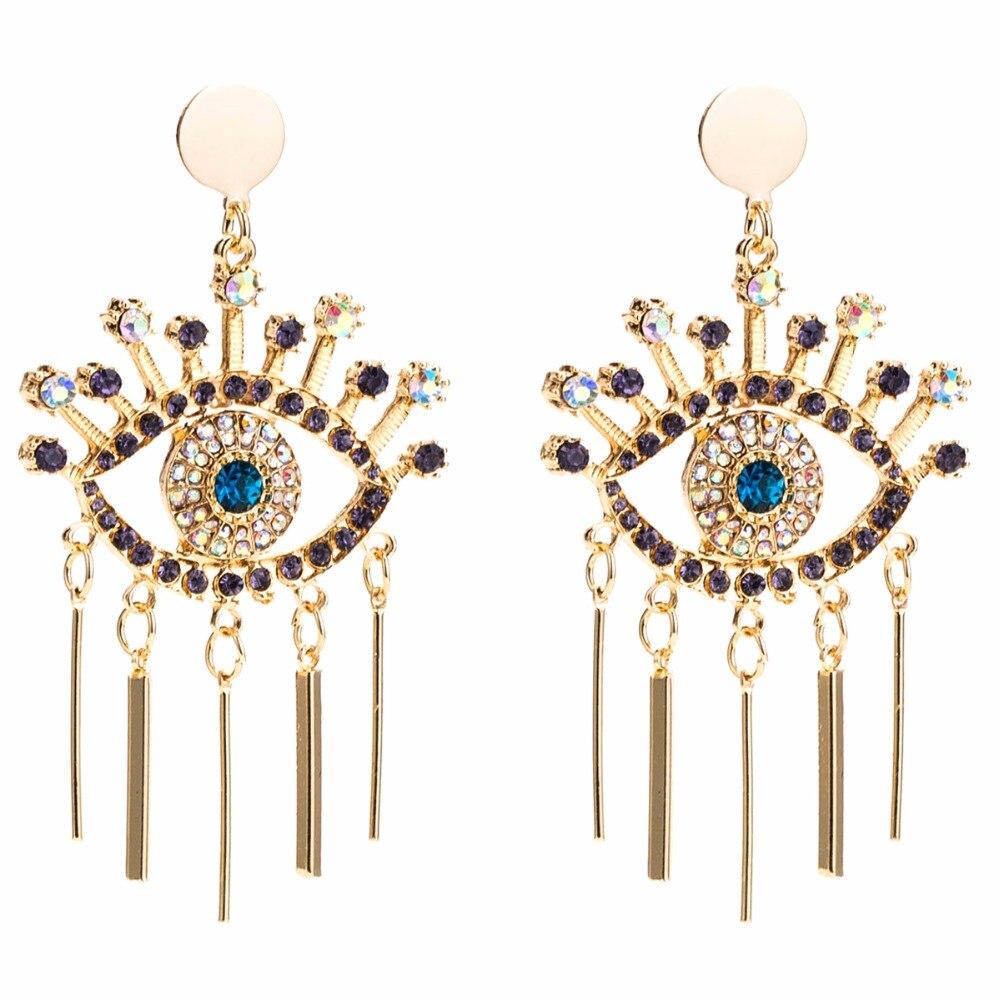Qiaose Ethnic Rhinestone Eyes Dangle Drop Earrings for Women Fashion  Jewelry Boho Maxi Collection Earrings Accessories -in Drop Earrings from  Jewelry ... 7b2459ff20c1