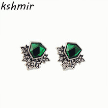 Style fashion accessories manufacturers selling burn silver restoring ancient ways is irregular ms crystal stud earrings