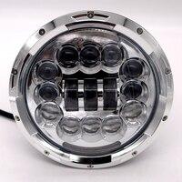 Motorbike Accessories 7 Turn Signal DRL Angel Eye Headlamp Harley Softail Touring Projector 7 Inch Round LED Headlight