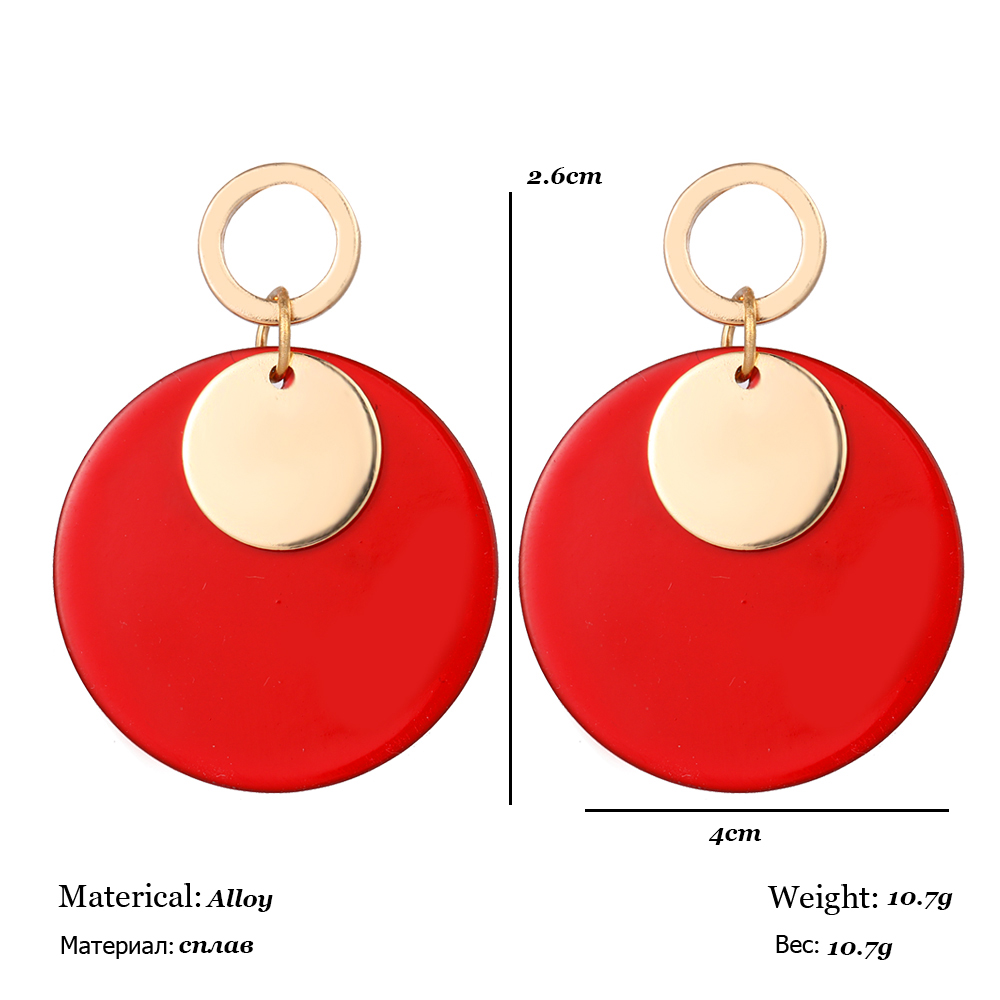 f2ec2c242930f RscvonM Fashion Stud Earrings For Women Golden Color Round Ball Geometric  Earrings For Party Wedding Gift Wholesale Ear Jewelry
