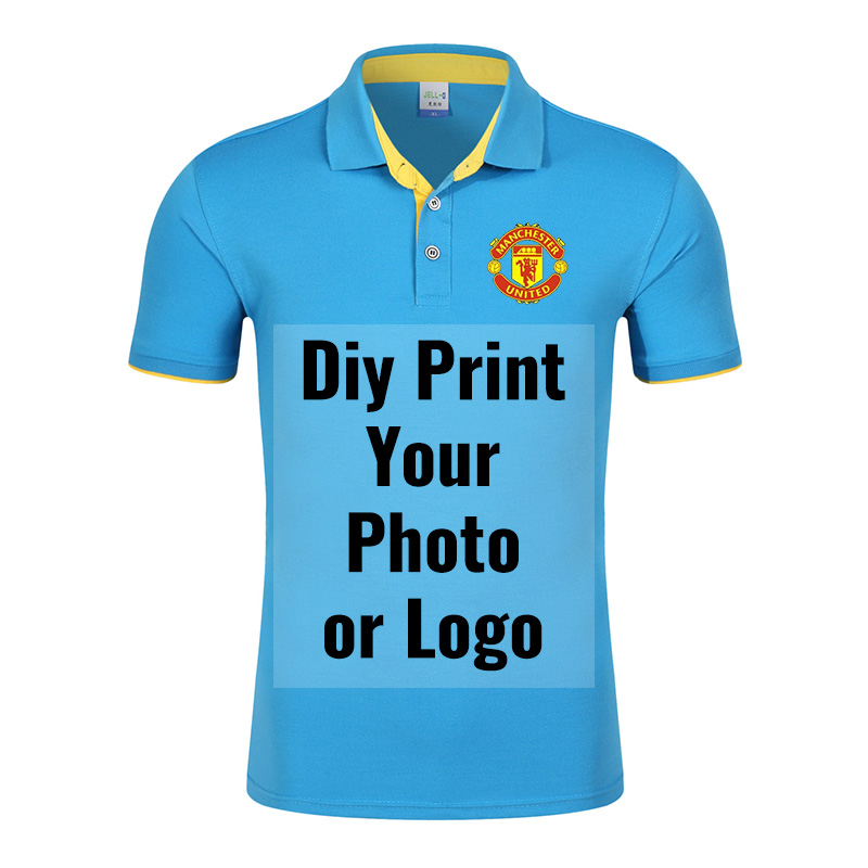Men Classic   Polo   Shirt Cotton Short Sleeve Solid Color Casual Tops Tees Couple Lovers Shirts Custom Printing Plus Size S-XXXL