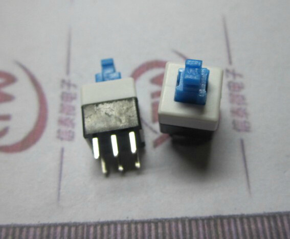 100pcs/lot 8*8mm 6 Pins Double-row Self Locking Switches Self Lock Switch 8x8mm Wholesale