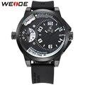 WEIDE Men Watches New Luxury Brand Clock Male 30m Waterproof Silcone Band Dual Time Zones Casual Sports Men Quartz Wrist Watch