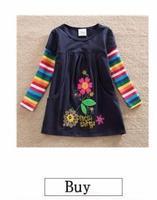 аккуратные 2017 розничная продажа платье с длинными рукавами для девочек модные розовые с печатным рисунком в горошек с бантом для девочек 100% хлопчатобумажное платье детская одежда h5306