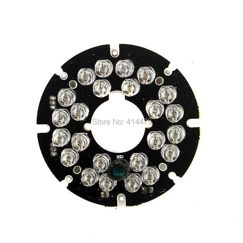 2 PCS/Lot 24 pièces Led 5mm Infrarouge IR 90 Degrés Ampoules Panneau Lumineux 850nm Pour Caméra DE Sécurité CCTV