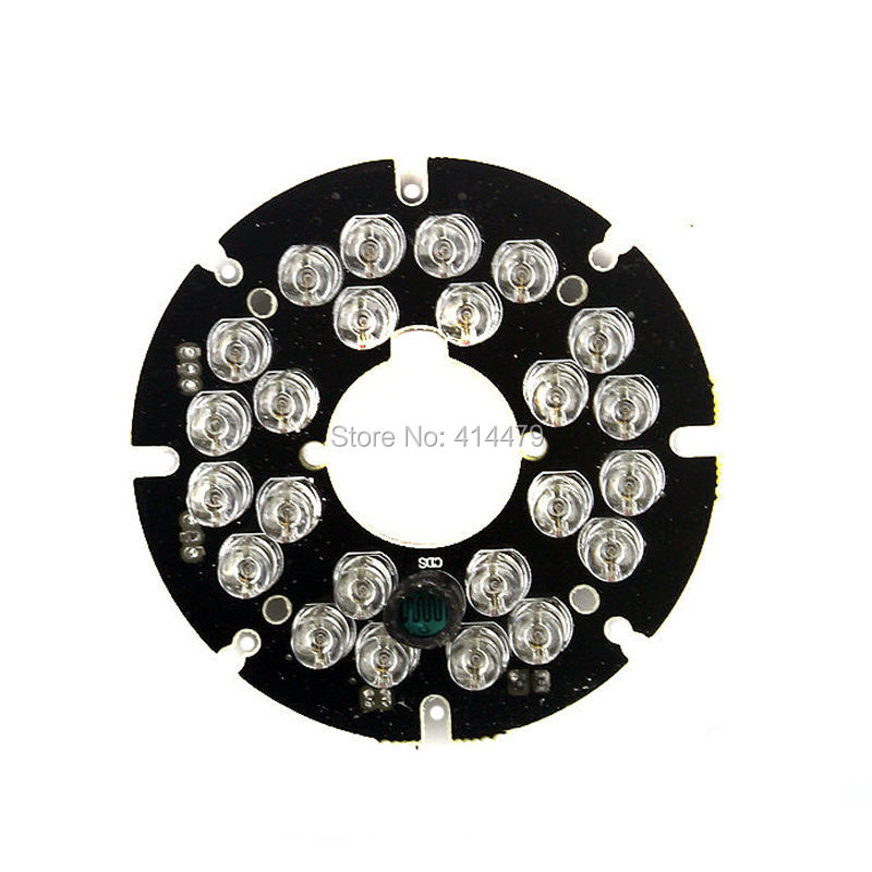 2PCS/Lot 24 PCS LEDs 5mm Infrared IR 90 Degrees Bulbs Light Board 850nm For CCTV Security Camera 48 leds 5mm infrared ir 60 degrees bulbs board 850nm illuminator for cctv camera