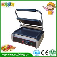 Electric Griddles Professional Non Stick Pan Steak Machine Food Barbecue Machine Stainless Steel Housing