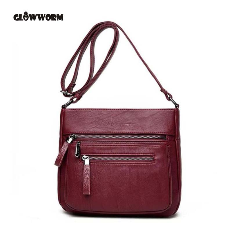 Women Messenger Shoulder Bag Sheepskin High Quality Crossbody Bags Casual Solid Zipper 4 Colors Fashion Handbag Bolsa Feminina