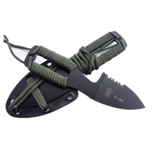 key d mini cutting knife tops dive scuba with ABS sheath scabbard holster outdoor camp hike pocket rescue survive self defense(China)