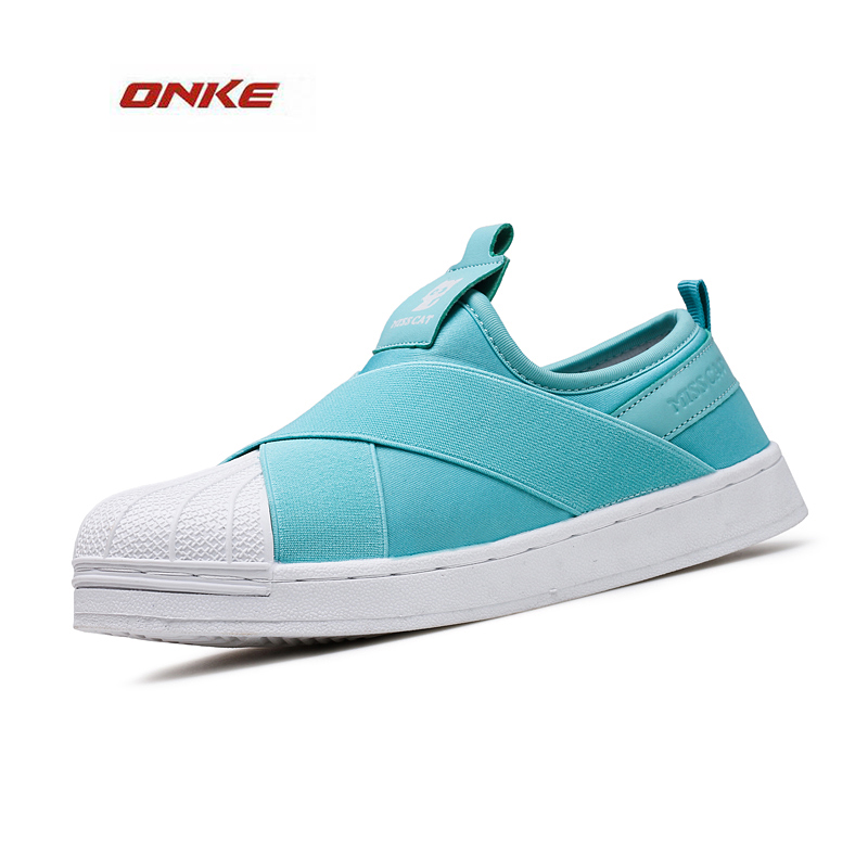 ONKE 2017 Cozy Athletic Sports Shoes Man Woman Unisex Lady Big Size 36-44 Superstar High Quality Rush Run Elasticity Comfortable