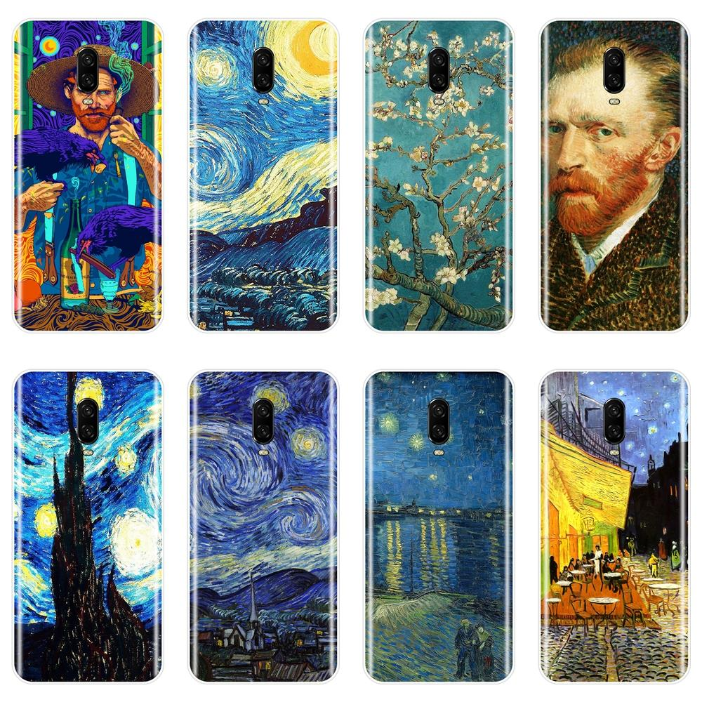 Van Gogh Painting Soft <font><b>Phone</b></font> Case Silicone For OnePlus 3 3T 5 5T <font><b>6</b></font> 6T Back <font><b>Cover</b></font> For <font><b>One</b></font> <font><b>Plus</b></font> <font><b>6</b></font> 6T 5 5T 3 3T image