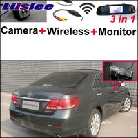 Liislee 3 in1 Special Camera + Wireless Receiver + Mirror Monitor Easy DIY Parking System For TOYOTA Aurion Camry XV40 2006~2011
