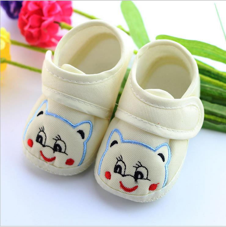 1pcs 2016 Spring autumn Print girls Baby Shoes cartoon Boy Anti-slip Shoes Soft Cotton Toddler Infant Skid-proof First Walkers