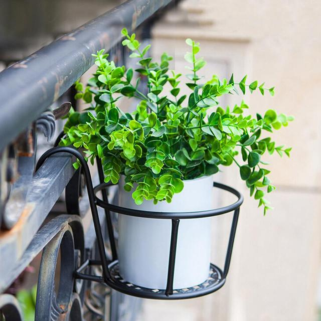 LumiParty Hanging Type Stylish Iron Flowerpot Stand Home Office Balcony  Decoration Gardening Accessories  30