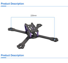 Realacc DC220 220mm 4mm Arm thickness Carbon Fiber Frame Kit for Multirotor Parts Accessories