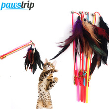 Toy Wand Cat-Toy Playing Funny Soft Cats/kitten Long 1pc 30cm with Small Bell