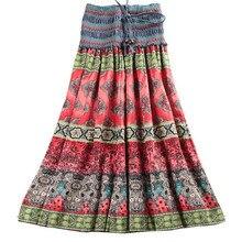 Mwsfh Mùa Hè Mới Xuất Hiện Thời Trang Thun Phong Cách Bohemian In Hoa Nữ Váy Dài Saia Longa Váy Wnmens Quần Áo