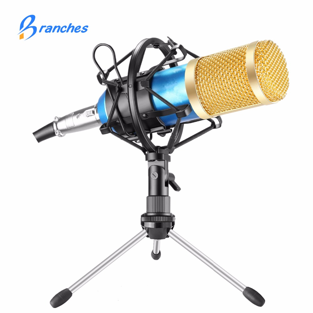 BM800 Mikrofon Condenser Sound Recording Microphone With Shock Mount For Radio Braodcasting Singing Recording KTV Karaoke BM 800