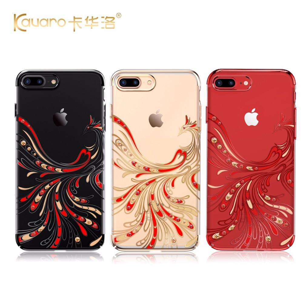 KAVARO Red Phoenix Hard PC Diamond Pouzdro pro iPhone 7 8/7 Plus 8 - Příslušenství a náhradní díly pro mobilní telefony