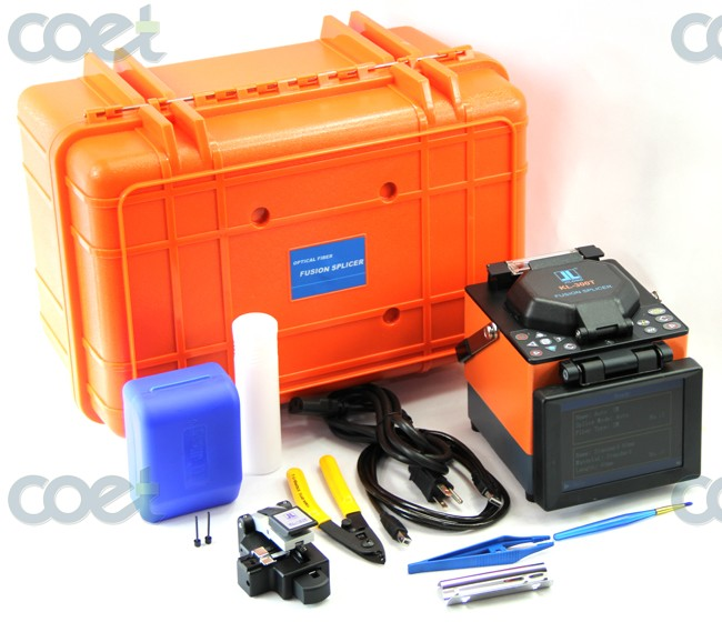 Original JILONG KL-300T Optical Fiber Fusion Splicer Kit w/Cleaver Core-Core & Verkleidet-Verkleidet Zentrierlehre Faser spleißen Maschine