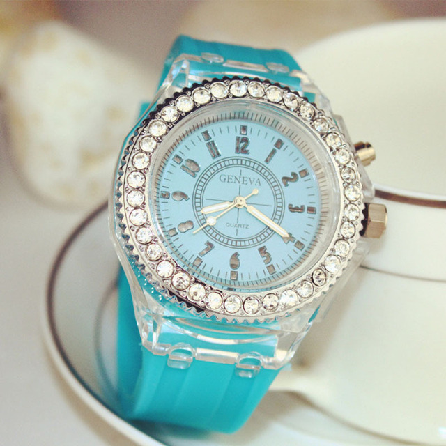 Geneva Luminous LED Sport Watches for Women