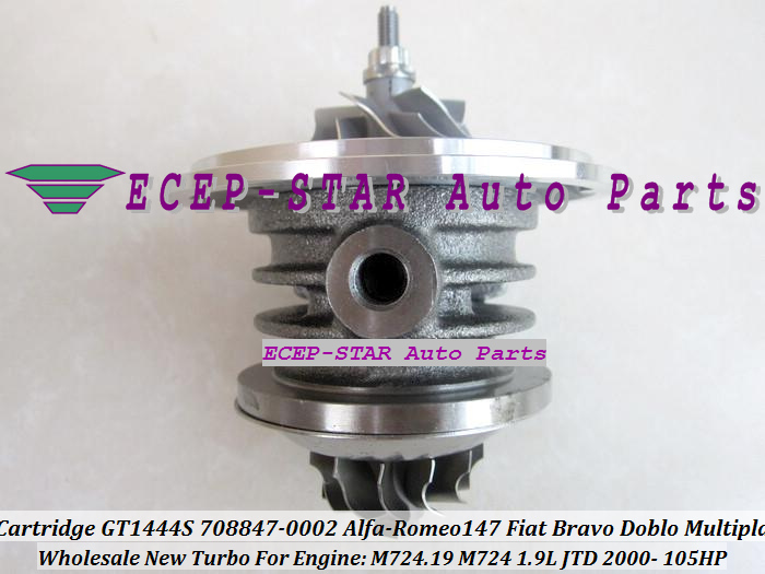 Turbo CHRA Cartridge Turbocharger Core GT1444S 708847-5002S 708847-0002 708847-0001 For Alfa-Romeo 147 Fiat Bravo Doblo Multipla 1.9L JTD 2000- (3)