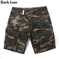 Big Side Pockets Camouflage Shorts Men 2017 Summer Knee Length Casual Men S Shorts Camo Shorts