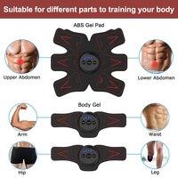 Abdominal Muscle Trainer EMS Stimulation Belt Arm/Leg Fitness Electronic Massager Device GYM Slim Exerciser Equipment 2018