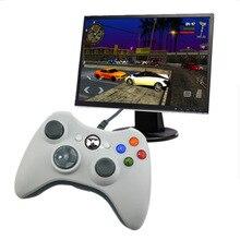 USB Wired בקר ג ויסטיק למחשב Controle למחשב Win7 Win8 Win10 לא עבור xbox 360