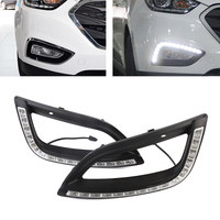 Auto Car LED White DRL Driving Daytime Running Light Fog Lamp Daylights For Hyundai IX35 2014