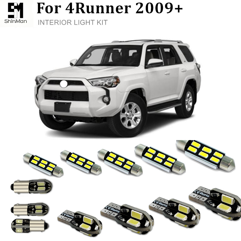 Shinman 15X Error Free Car LED Bright Vehicle Interior Map Dome Door Lights Kit Package for <font><b>toyota</b></font> <font><b>4runner</b></font> 2009+ image