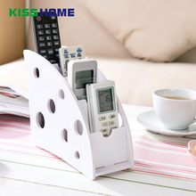 4 Grids White Creative Remote Control Smartphone Table Holder Multi-function Wooden Removable Storage Box for Office Living Room